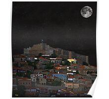 The Scream World Tour Molyvos Lesvos Greece Moonlight Poster