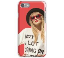 "Taylor's 22 ""Not a lot going on at the moment"" iPhone Case/Skin"