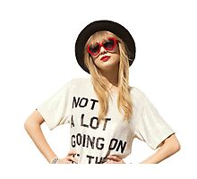 """Taylor's 22 """"Not a lot going on at the moment"""" Photographic Print"""