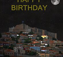 The Scream World Tour Molyvos Moonlight Happy Birthday by Eric Kempson
