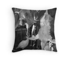Turkey Plucking, Barwell, Leicestershire Throw Pillow
