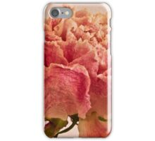 Dried Peony Macro - Textured Background  iPhone Case/Skin