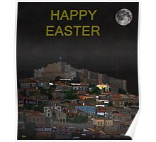 The Scream World Tour Molyvos Moonlight Happy Easter Poster