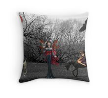 Ladies Of The Forest Throw Pillow