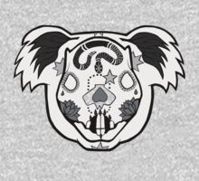 Day of the Dead Koala Black and White. One Piece - Long Sleeve