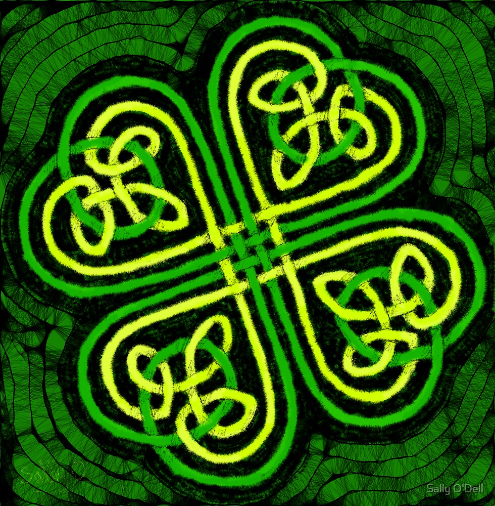 Celtic Clover by Sally O'Dell