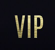 """Swanky Faux Gold Leaf Foil """"VIP"""" Typography by Blkstrawberry"""