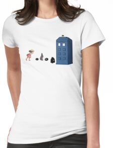 Studio Ghibli Meets the Doctor Womens Fitted T-Shirt