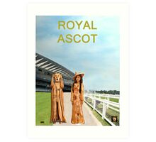 The Scream World Tour with Fashion  Royal Ascot Races Art Print