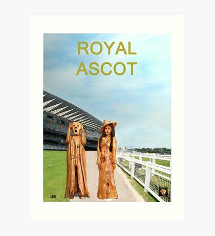 The Scream World Tour with Fashion  Royal Ascot Races Art Print