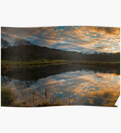 Days end on the river Brathay Poster