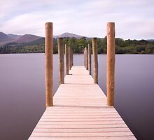 DERWENTWATER JETTY LONG EXPOSURE. by Phil  WEBB