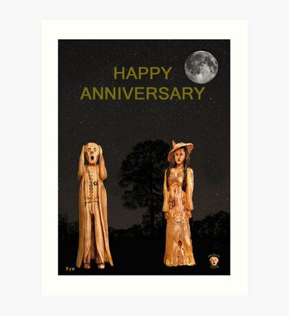 The Scream World Tour with Fashion Happy Anniversary Art Print