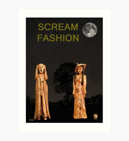 The Scream World Tour with Fashion Scream Fashion Art Print