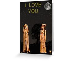 The Scream World Tour with Fashion I Love You Greeting Card