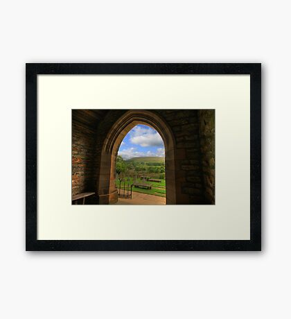 FINEST VIEW FROM ANY CHURCH IN ALL OF CHRISTENDOM Framed Print