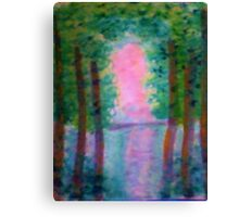 At Last I see the Light from the Foroest, watercolor Canvas Print