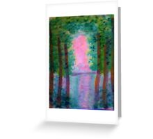 At Last I see the Light from the Foroest, watercolor Greeting Card