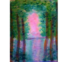 At Last I see the Light from the Foroest, watercolor Photographic Print
