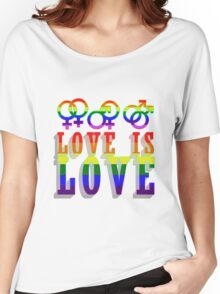 LGBT - Love is Love Women's Relaxed Fit T-Shirt
