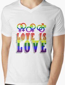 LGBT - Love is Love Mens V-Neck T-Shirt