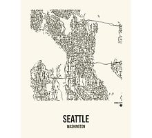 Seattle Washington Map Photographic Print