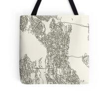 Seattle Washington Map Tote Bag