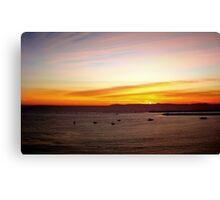 Sunset Sky Over Corona Canvas Print