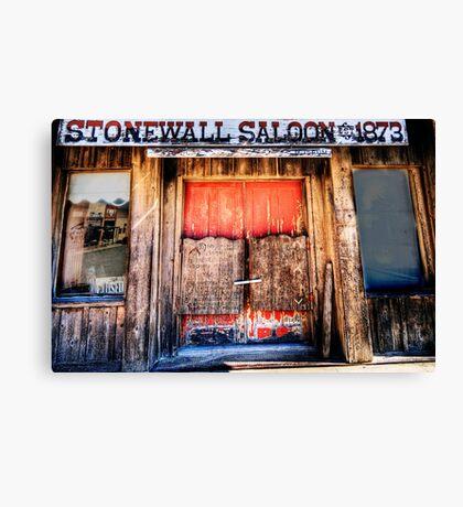 StoneWall Saloon - Saint Jo , Texas Canvas Print