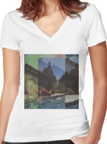 Pool babe  Women's Fitted V-Neck T-Shirt