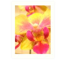 Alien Orchid v.3 - Yellow Beauty Art Print