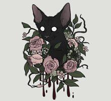 Dark Floral Feline Unisex T-Shirt