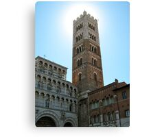 Sun Hiding Behind Tower - Lucca, Italy Canvas Print