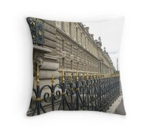 Ironwork and Stone - Louvre Throw Pillow