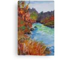 """Wonderous Riverside"" Canvas Print"