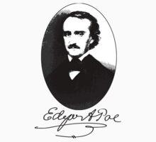Edgar Allan Poe Portrait with Signature Baby Tee