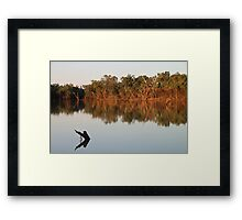 Outback Serenity - Sunset on the Balonne Framed Print