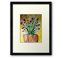 Flowers on the Patio, watercolor Framed Print
