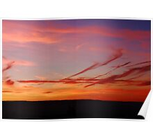 LINED PENDLE SUNSET Poster