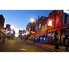 Beale Street, Memphis, Tennessee Photographic Print