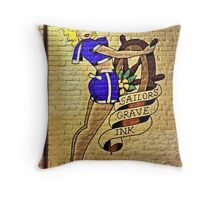 Hello Sailor! Throw Pillow