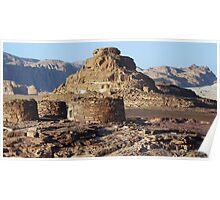 """les tombes Nawamis du Sinaï"" ""tombs Nawamis of Sinaï"" Poster"