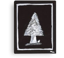 Pine tree in Black and White Canvas Print
