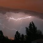Colorado Lightning Storm #1 - Colorado Springs by Cari Graves