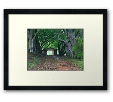 entry to rememberance Framed Print