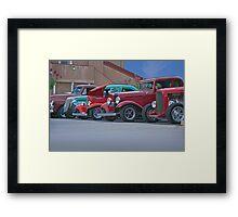 Car Show Crowd Framed Print