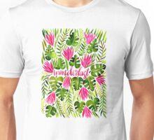 Tropical Wanderlust – Pink & Lime Unisex T-Shirt