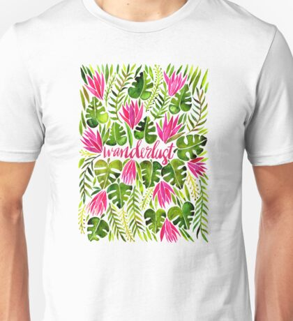 Tropical Wanderlust – Pink & Lime Unisex T-Shirt