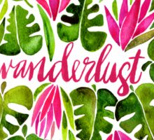 Tropical Wanderlust – Pink & Lime Sticker