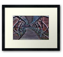 Cross over bridge Framed Print